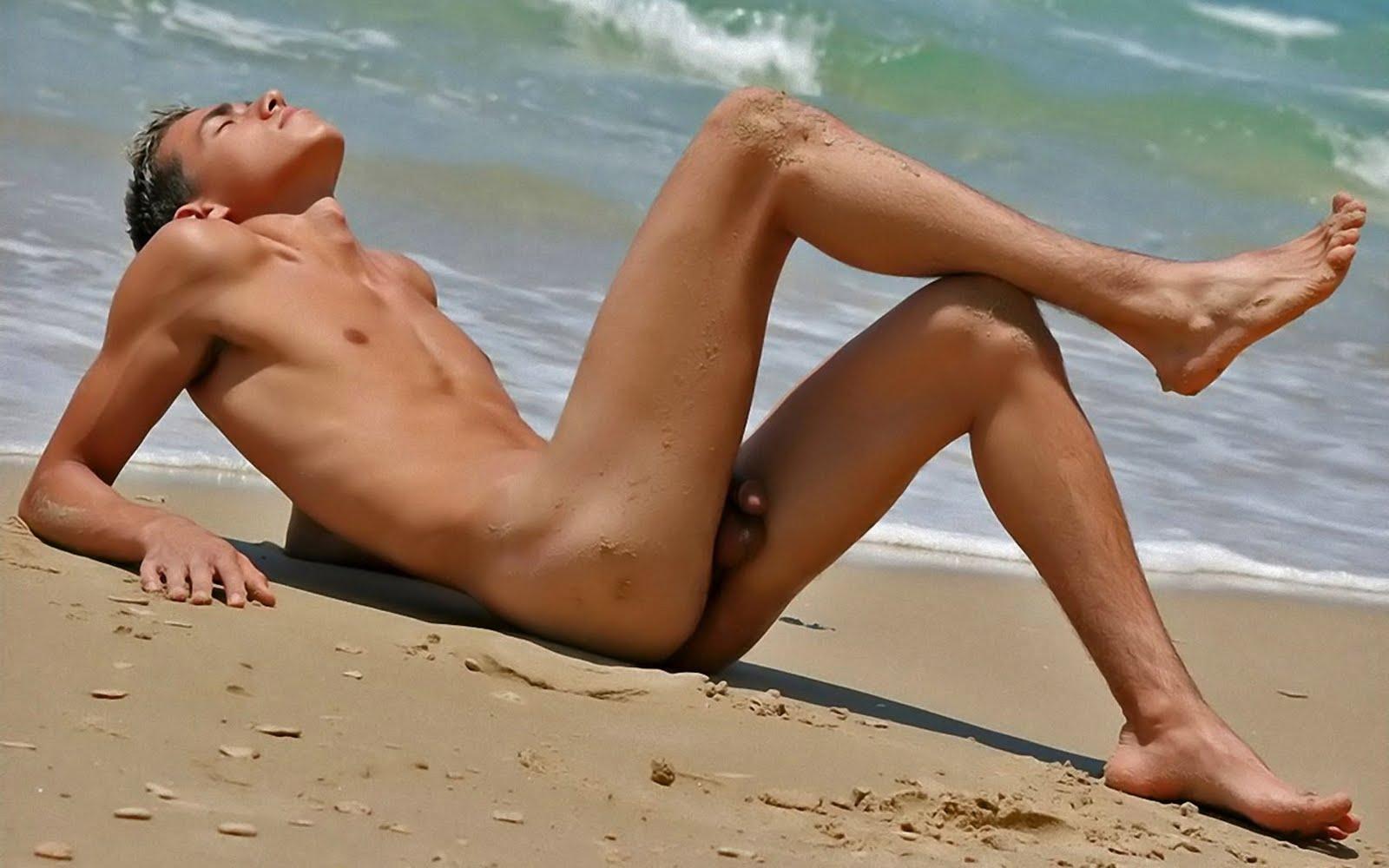Naked boy having sexy