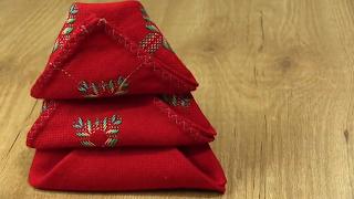 Ideas para doblar servilletas en Navidad