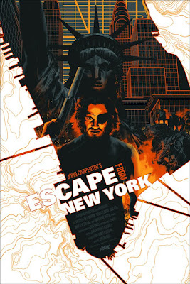 MondoCon 2016 Exclusive Escape from New York Movie Poster Glow in the Dark Variant Screen Print by Matt Taylor x Mondo