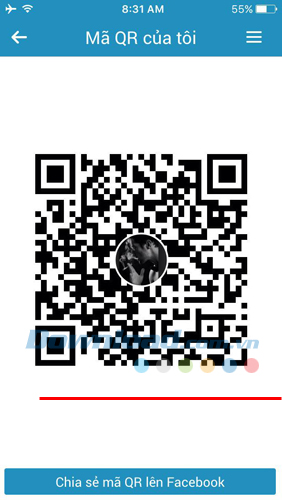 QR code on Zalo