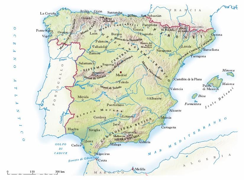 Cartina Fisica Spagna Muta.Spagna Junglekey It Immagini 50