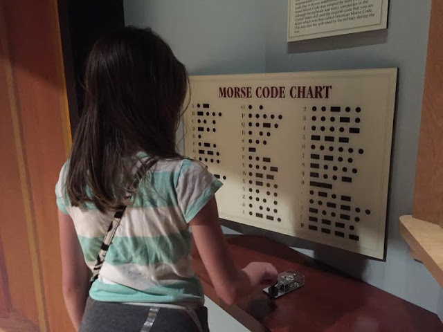 Playing with Morse Code at The Civil War Museum in Kenosha, WI.