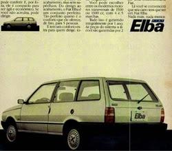 Propaganda do Fiat Elba, lançamento em 1986.