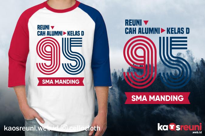Kaos Cah Alumni Kelas D Angkatan 95 - Desain Sablon Kaos Reuni Online