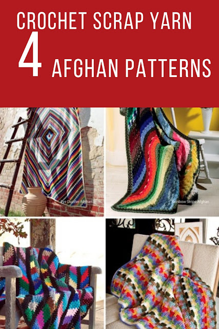 Easy to Crochet Scrap Yarn Afghan Patterns