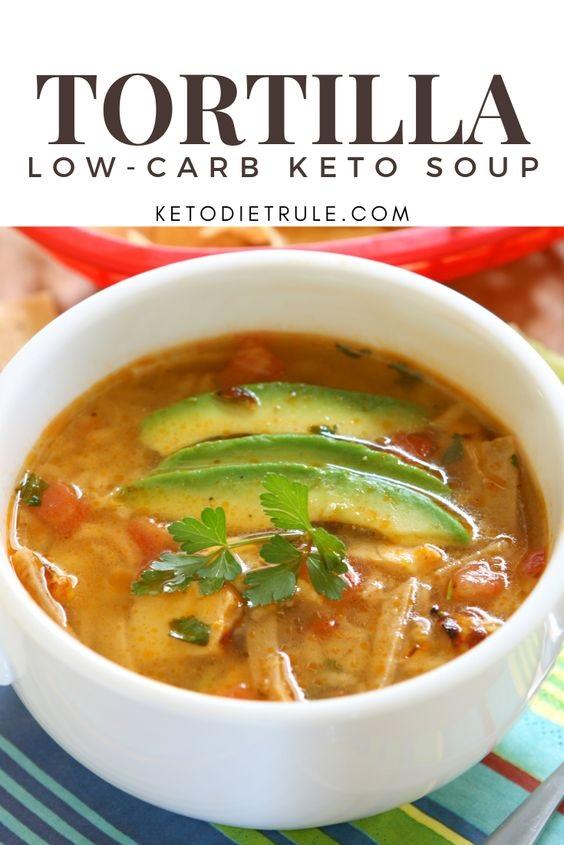 Keto Low-Carb Tortilla Soup