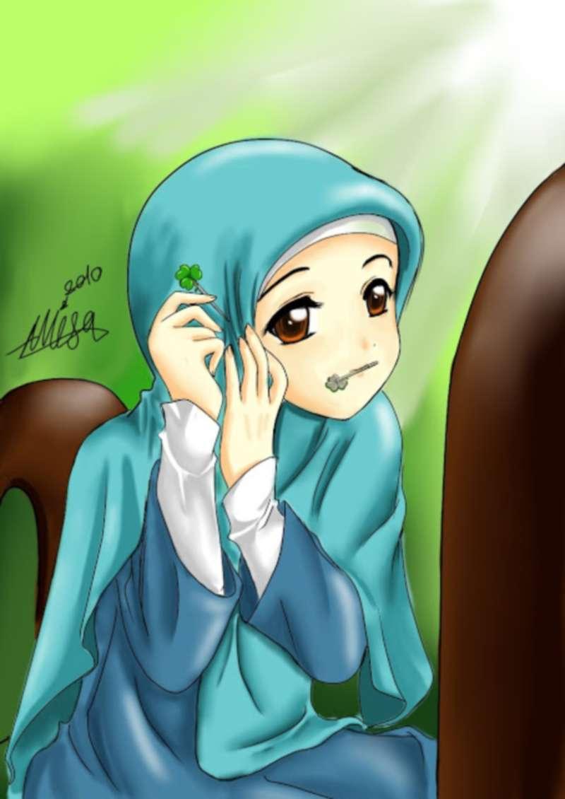 Gambar Kartun Muslimah Menangis Sedih Top Gambar