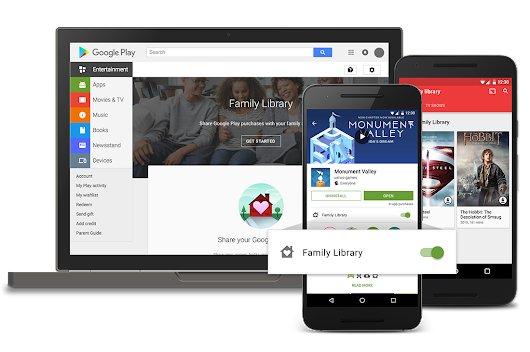 Google Play Family Library: Share what you love with the ones you love