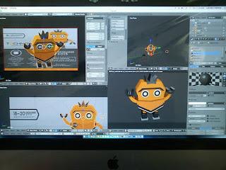 3D Design Proses untuk Technowars 4 HMPS TI Unikama