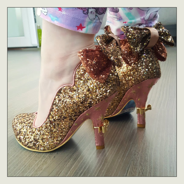 wearing irregular choice gracious dreamer gold glitter