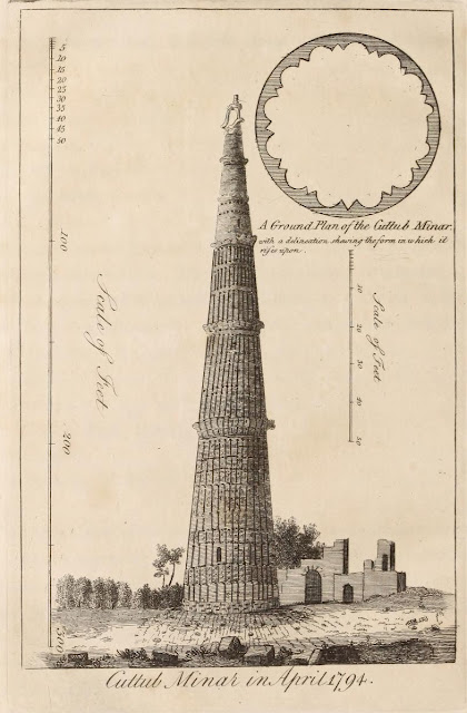 Qutb Minar in 1794