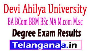 Devi Ahilya University Degree Exams Results 2017