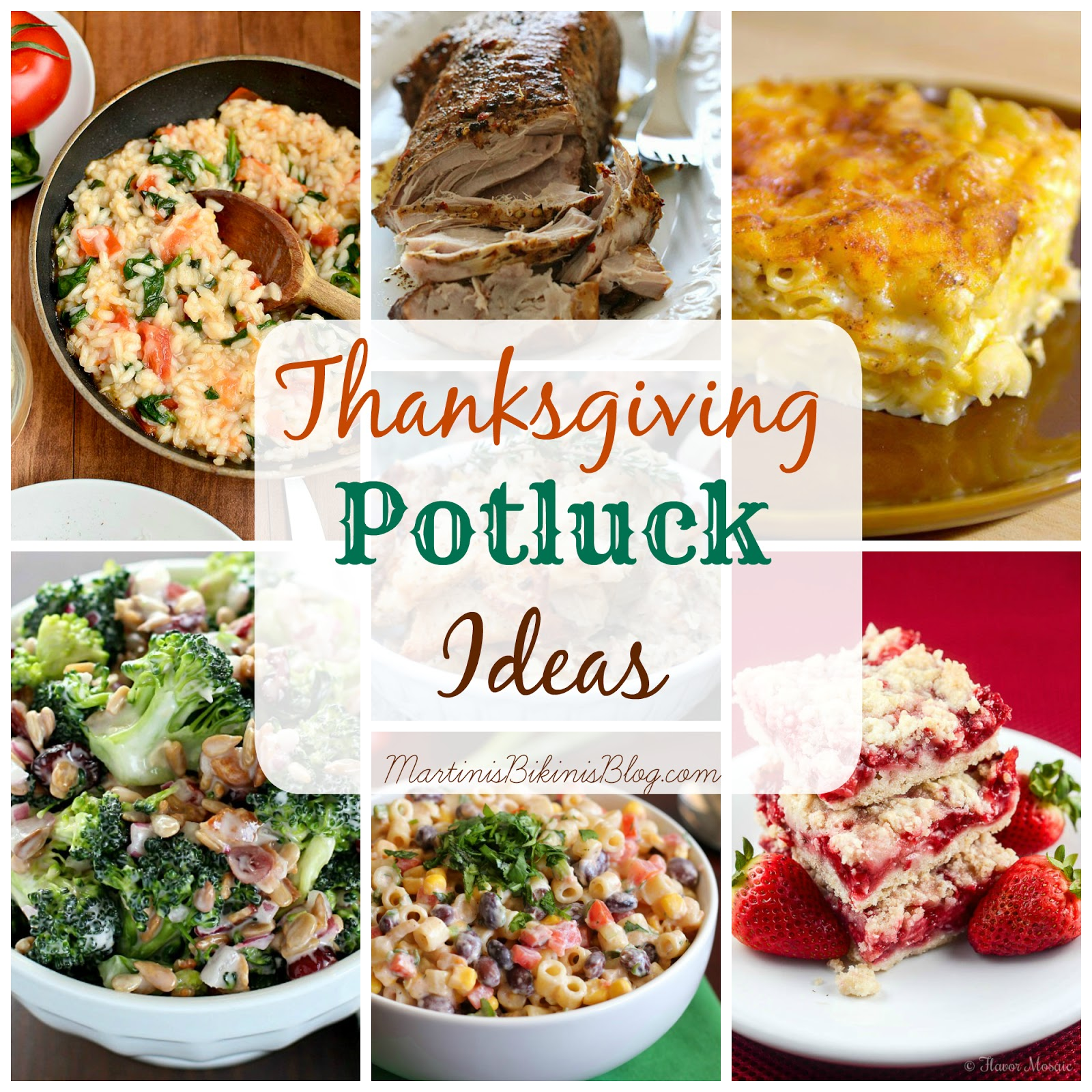 Thanksgiving Potluck Dish Ideas - Martinis