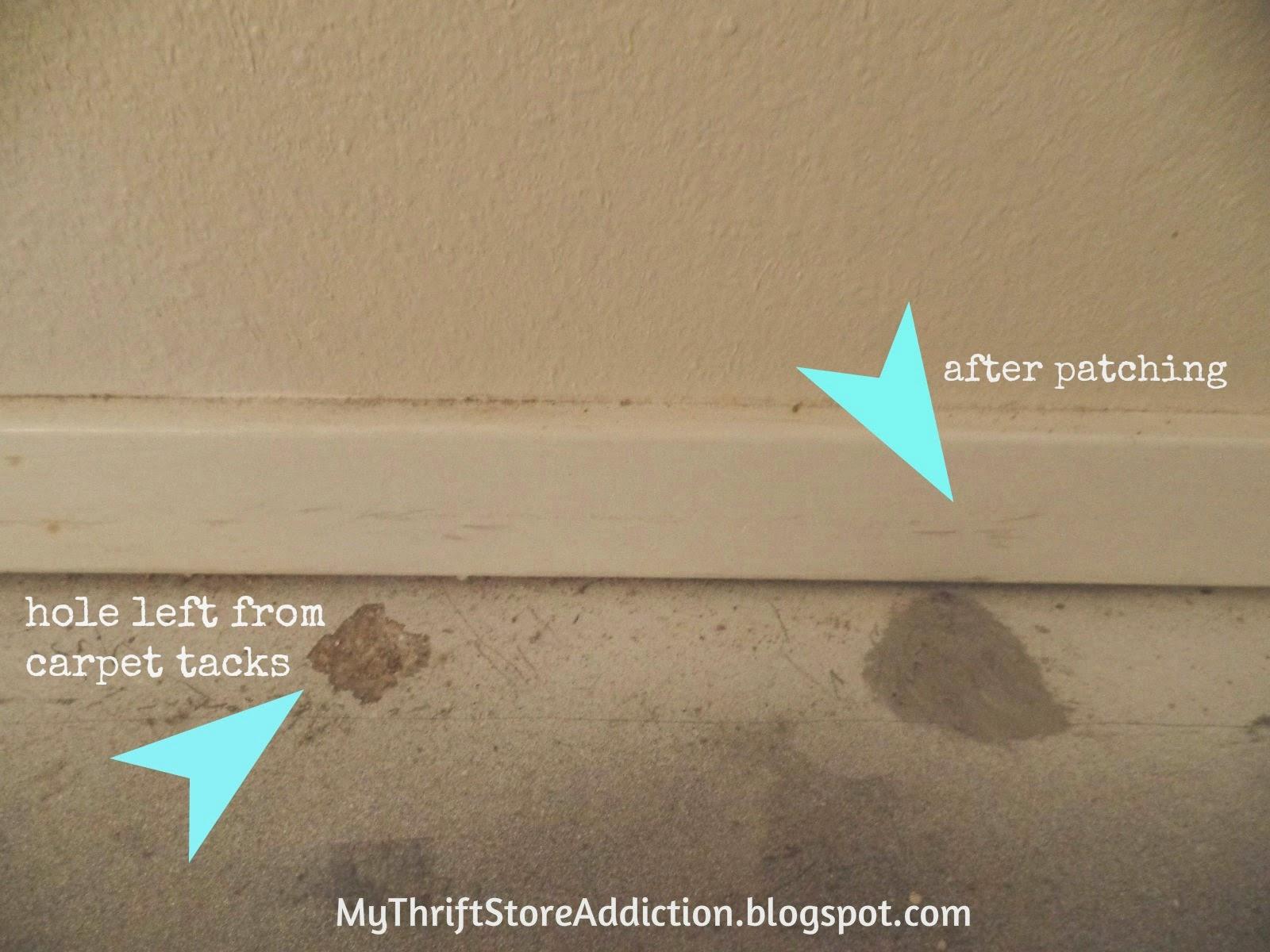 Repair carpet tack holes