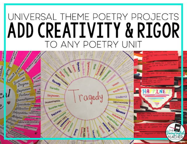 Adding Creativity and Rigor to Poetry Units with Universal Theme Analysis Projects