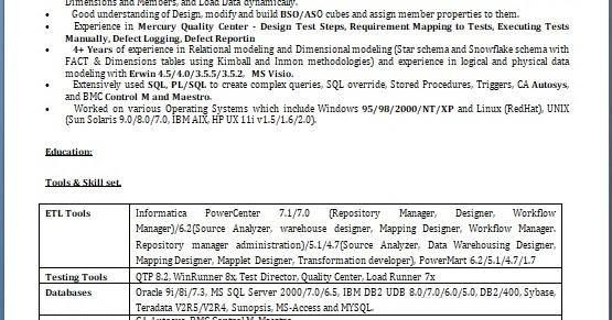 word sample for resume of qa tester for fresher