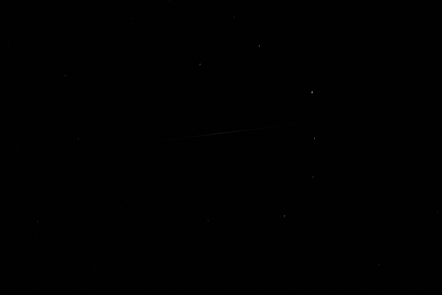 Iridium Flare in Corona Borealis - Light pollution removed