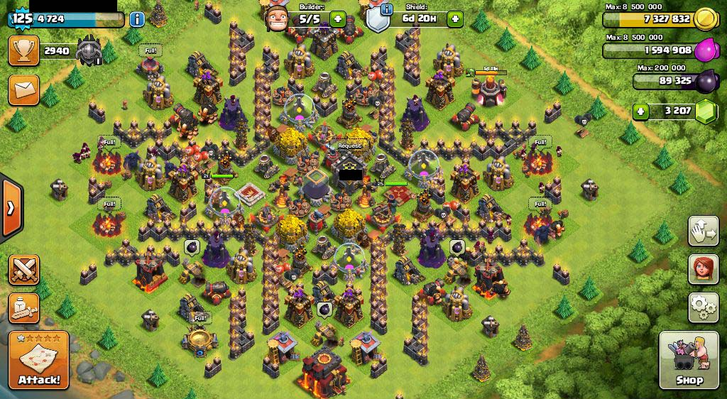 89] Clash Of Clans COC TH 10 MAX AQ Lvl 25 Archer Tower Lv