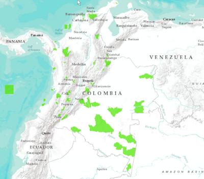 áreas protegidas de Colombia