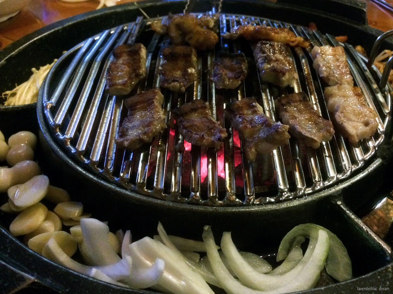 South Korea, Seoul, Sinchon, YISS 2014, Jadamhwaro KBBQ - Samgyupsal Pork Belly