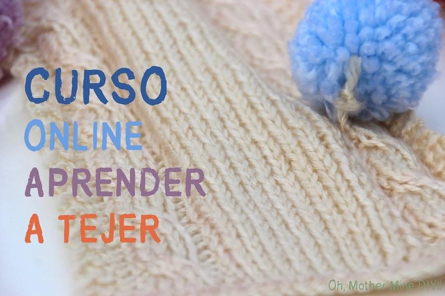 Curso online gratis aprender a tejer con dos agujas. Blog de costura y diy.