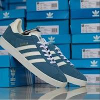 Jual Sepatu Online Adidas Gazelle Blue Original BNIB made in indonesia