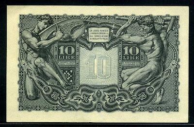 Italy 10 Lire banknote money bill