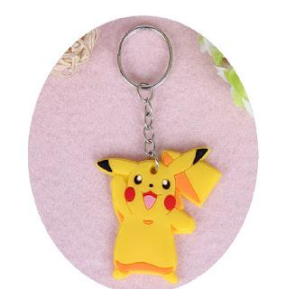 portachiavi chiusura zip lampo zaino scuola giubbini felpe in silicone pvc morbido a tema pikachu pokemon go
