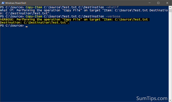 How to Copy or Move Files Selectively with PowerShell | SumTips