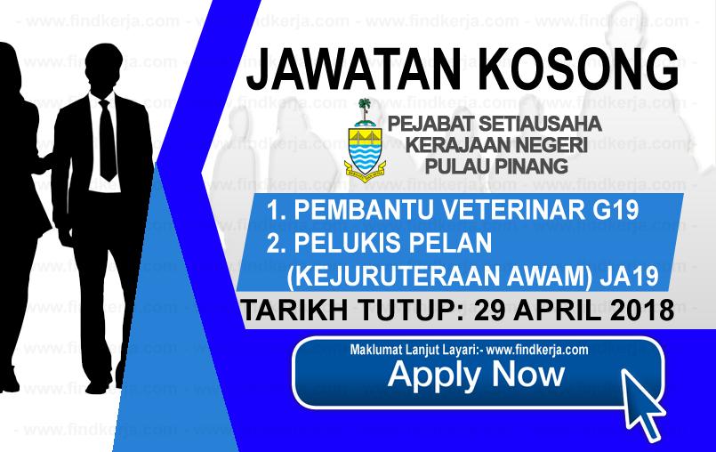 Jawatan Kerja Kosong SUK Pulau Pinang logo www.findkerja.com april 2018