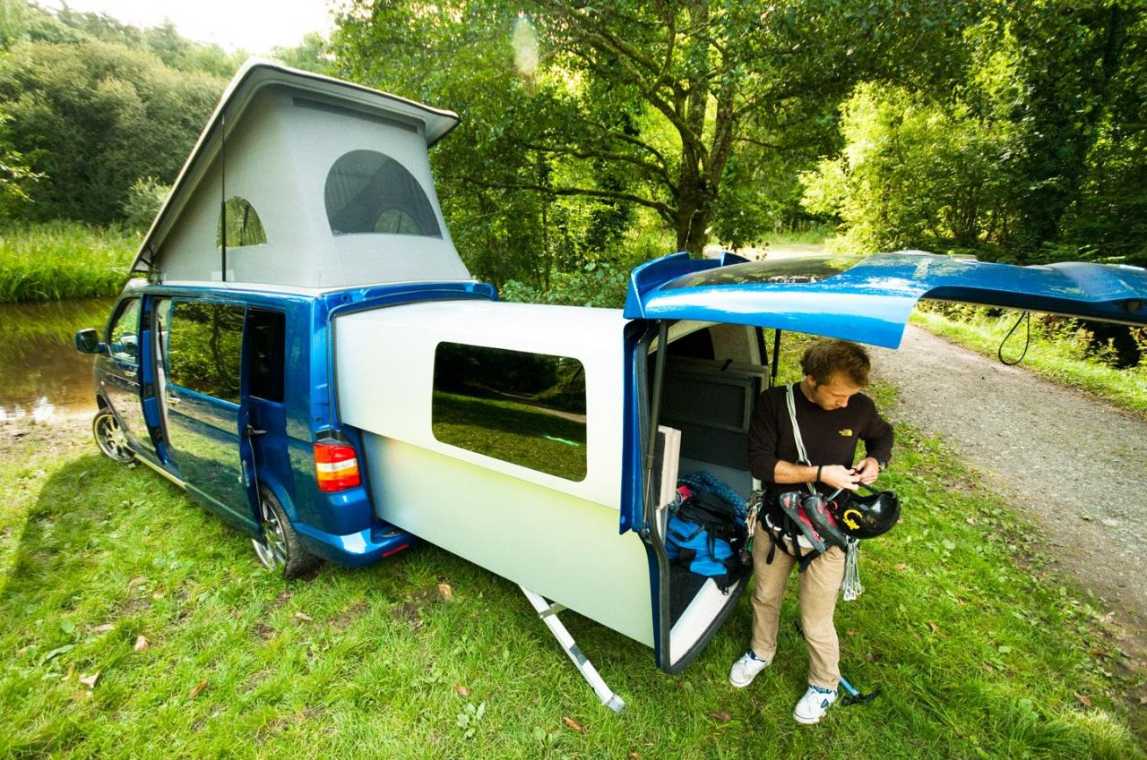 vw transporter is now camper doubleback with video garage car. Black Bedroom Furniture Sets. Home Design Ideas