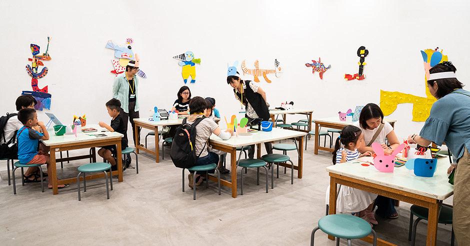 横浜市こどもの美術展2018ワークショップの様子