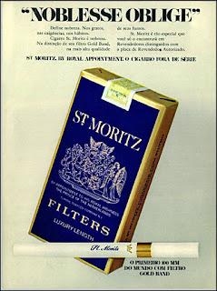 propaganda cigarros St. Moritz - 1972, cigarros anos 70, cigarros década de 70, Oswaldo Hernandez