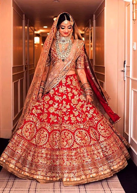 Red Bridal Wear Lehenga Choli, Bridal Wear Lehenga Choli, Stunning Bridal Wear Lehenga Choli with Dupatta