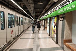 spain metro stations in Barcelona