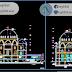 مخطط مشروع مسجد كبير من عدة طوابق كاملا اوتوكاد dwg