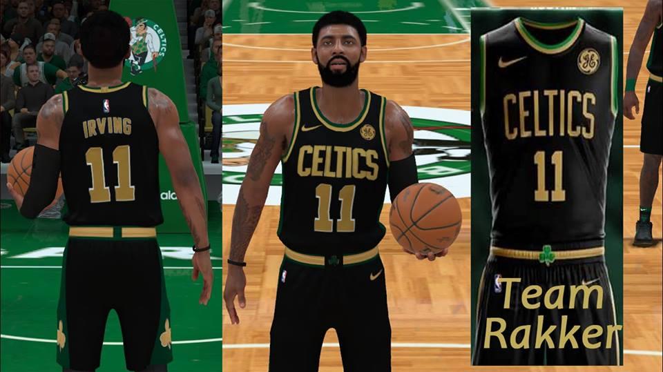 Nba 2k18 Boston Celtics Concept Jersey By Team Rakker Released Shuajota Your Site For Nba 2k Mods