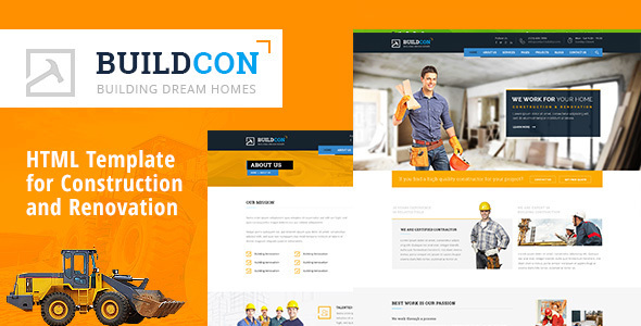Buidcon - Construction and Renovation HTML Template