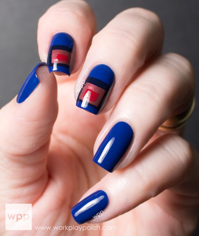 Josef Alpers Homage to Squares Nail Art using OPI San Francisco Collection