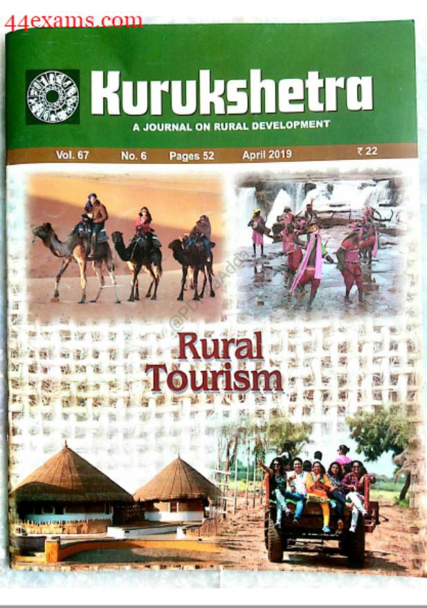 Kurukshetra Current Affairs (April 2019) : For UPSC Exam PDF Book