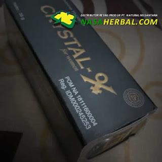 Ciri Crystal X Asli: Tercetak Legalitas Ijin BPOM dan Label HALAL
