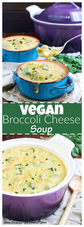Vegan Broccoli Cheese Soup Recipe