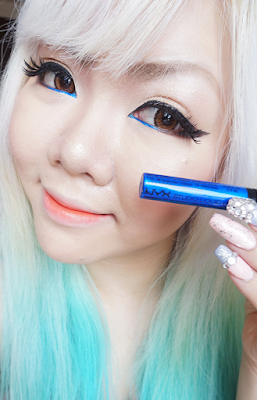 nyx studio liquid liner blue review