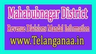 Mahabubnagar District Revenue Divisions Mandal Information