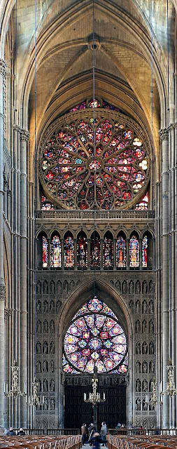 Catedral Notre Dame de Reims, vista interior da nave central