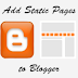 How to add Static Pages to a Blogger Blog (UPDATED)