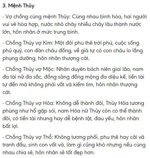 Menh Thuy