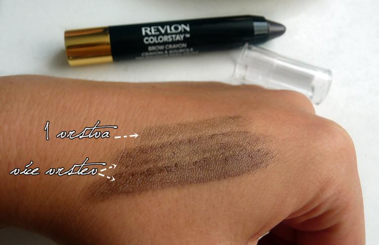 tužka na obočí revlon ColorStay Brow Crayon odstín dark brown 315