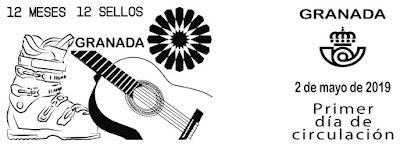 Granada - 12 meses, 12 sellos - Matasellos Primer día - 02 05 2019