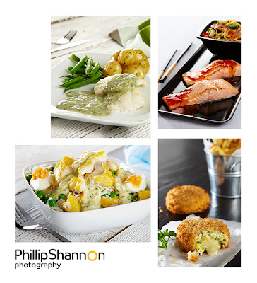 Phillip Shannon Professional Food Photographer studio shots of fish products